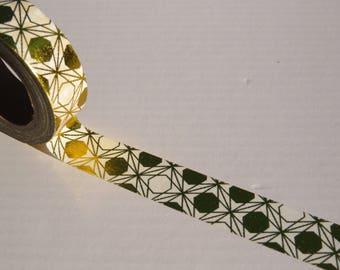 Gold Foil Geometric Washi Tape