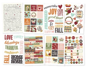 Simple Stories Vintage Blessings 4x6 Sticker pack