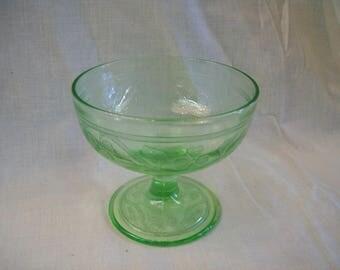 Cloverleaf Sherbet - Hazel Atlas Glass Company - 1930-1936