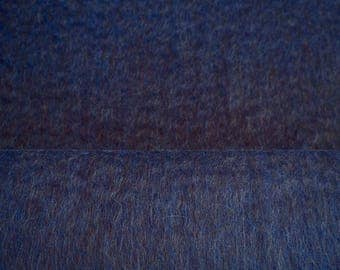Wool - Alpaca - Royal blue fabric