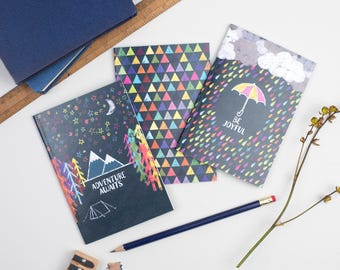 Set of 3 A6 Notebooks