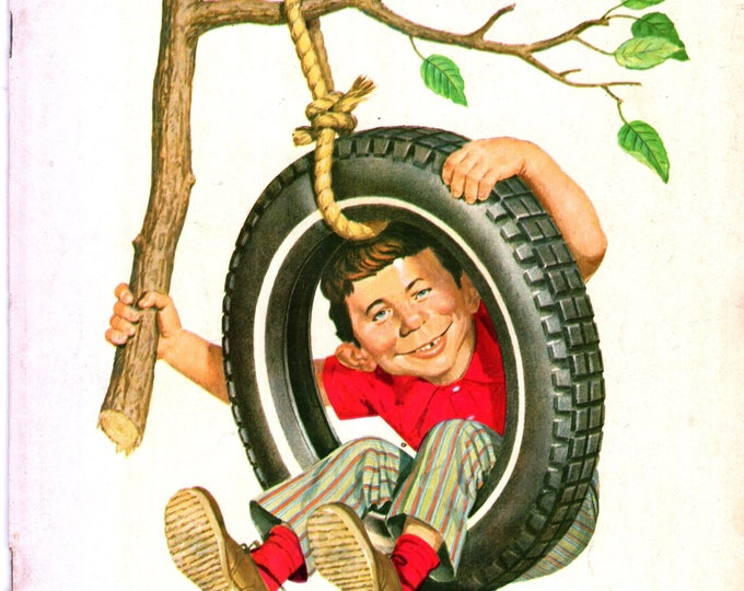 MAD Magazine #134 Alfred in Tire Swing April 1970 Issue