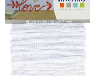 5 meter wire knitting white - string white 5mm - 13001056