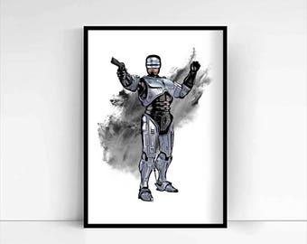Robocop 'Murphy' A4 Portrait