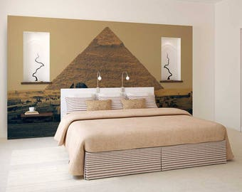Wall Mural Desert, Wall Mural Egypt, Pyramids Wall Mural, Wallpaper Desert, Wall Decal Desert