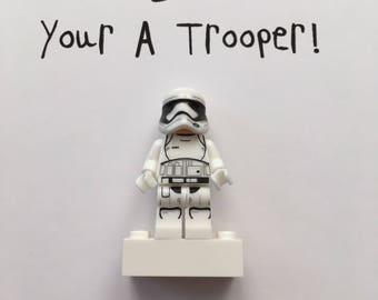 Stormtrooper lego frame