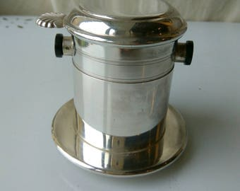 Vintage French cafetière for one. Individual coffee filter. One cup filter. Tea strainer.