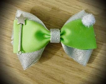 Tinkerbell Disney Princess Peter Pan Character Inspired Fairy Hair Bow