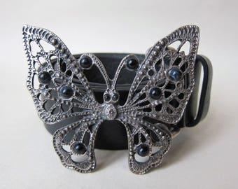 Butterfly leather belt black Gerard Darel / / S M