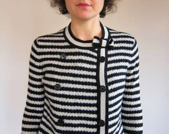 Sonia Rykiel 36FR S striped wool Cardigan