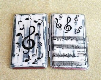 Cigarette case with musical notes, Case cigarette, Cigarette case metal, Handmade case cigarette,Cigarette box ,Case cigarette handmade