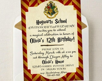 Harry Potter Invitation < Harry Potter Birthday < Harry Potter Party Invite < Harry Potter < Hogwarts < Gryffindor < Slytherin < Weasley