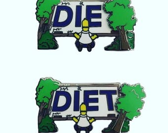 Homer Simpson DIET pin simpsons