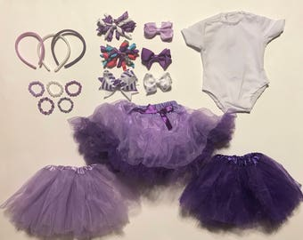 """Polished Purple Set! -- 18 piece set, all made to fit American Girl or 18"""" Doll"""