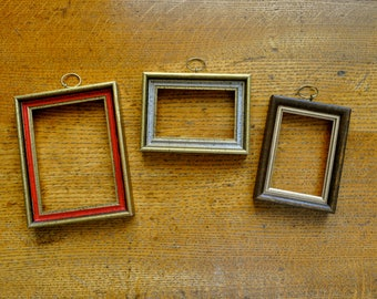 Vintage Small Wooden  Frames (set of 3)