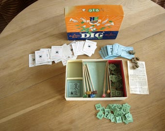 Vintage Dig Board Game Parker Brothers 1940 – Complete – Great Condition