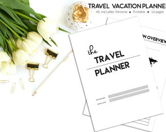 Travel Planner, Vacation Planner, Trip Planner, Vacation Organizer, Holiday Planner, Family Vacation, Packing List, Printable Planner