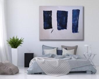 Texture Painting Blue / Blue Abstract Art / Blue Minimalist Art / Minimalist Painting / Blue and White Art / Modern Art Blue / Modern Art