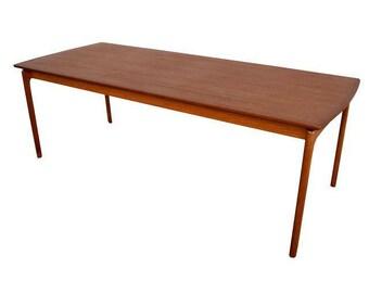 Vintage Danish Modern Teak Coffee Table by Ole Wanscher for Poul Jeppesen
