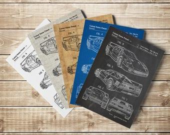 F40, F40 Patent Poster, F40 Blueprint, Ferrari F40 Poster, F40 Poster, Ferrari Print, Ferrari Printable, Ferrari F40 Print, INSTANT DOWNLOAD