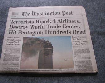 911 Washington Post Newspaper
