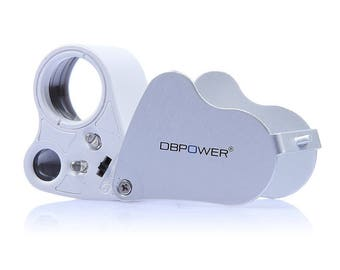 DBPOWER 30X 60X Illuminated Jeweler's Eye Loupe Magnifier