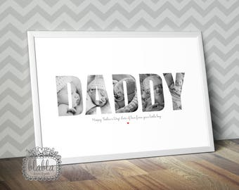 Fathers Day, Personalised Poster, Your Images, Father A4/A3 Poster
