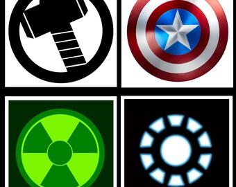 Avengers Logo Inspired Coaster Set