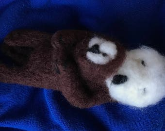 Needle Felted Sea Otter, Sea Otter Decoration, Handmade Sea Otter, Mother and Baby Sea Otter