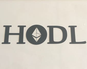 "Ethereum ETH HODL Crypto Decal Sticker Vinyl Cryptocurrency Blockchain 6"" to 12"" miner mining"