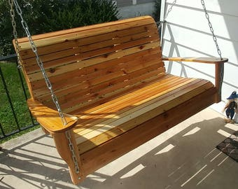 Cedar Porch Swing, Porch Swing, Patio Swing, Swing, Wood Porch Swing,