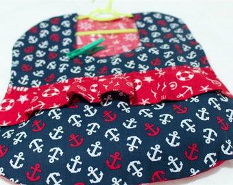 Maritime Clothespin bag dress red blue anchor