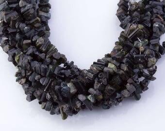 Green Tourmaline Gemstone Beads, Semi-Precious Stones, Natural Beads, Center Drilled, Green Gemstones, Priced per Strand, TOUR04