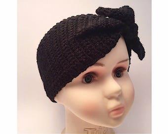"Boho ""Velvet Acorn Adanya"" Crochet Head~warmer/Ear~Warmer/Scarf, Handmade, Custom Color, Custom Sizing"