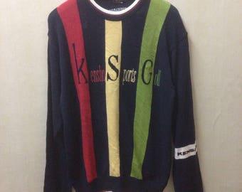 Vintage Kensho Abe Knitwear Spellout Rare