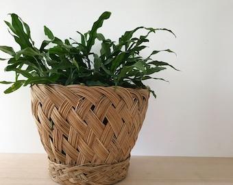 Vintage Woven Basket | Braided Basket | Planter Pot
