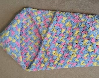 Super soft hooded baby snuggle blanket, wrap around swaddle