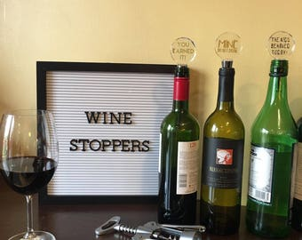 Personalized Glass Wine Stoppers