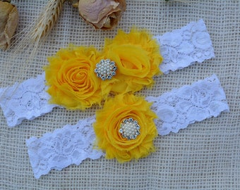 Yellow Garter Set, Yellow Garter Belt, Bridal Clothing, Garter Lace, Garter For Women, Romantic Garter, Lace Garter Set, Yellow Keep Garter