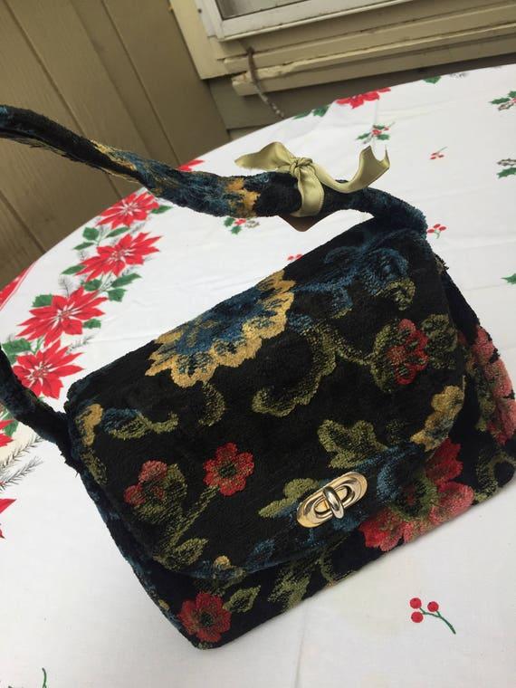 Vintage velvet Brocade Bag