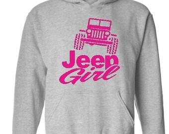 Jeep Girl Humor Trucks Gift for Christmas Birthday Match with Jeans Leggings Hats Unisex Hoodie Sweatshirt