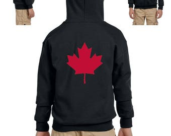 Canada Toronto Maple Leafs Proud Canadian Vancouver Guide Map Flag Gift Heavy Blend Youth Full-Zip Hooded Sweatshirt