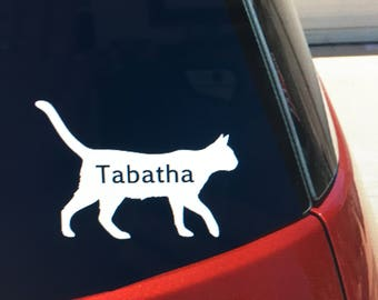 Cat Car Decal Etsy - Cat custom vinyl decals for car windows