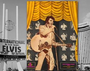 Elvis Presley, Las Vegas, Souvenir Menu, Concert Memorabilia, Vintage Las Vegas, The King