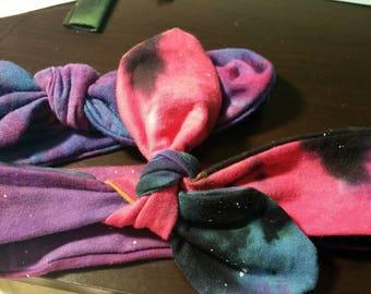 Galaxy hand dyed headband