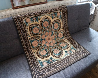 Reversible Embroidered Wall Hanging