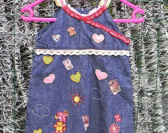 small revamped Jean dress. Size 18 months