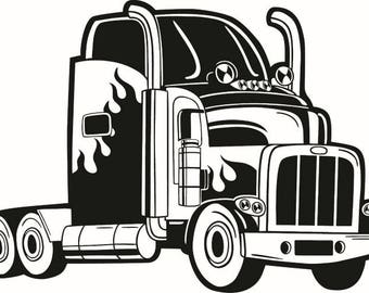 18 Wheeler Svg