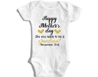 Mother's day pregnancy announcement - Pregnancy reveal to grandma - Pregnancy reveal to parents - Mothers day surprise - Grandma to be
