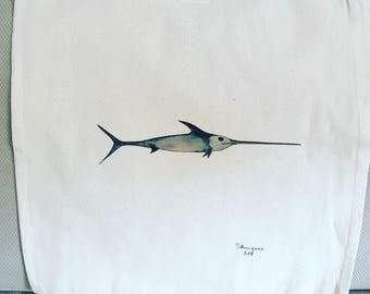 Tote bag swordfish
